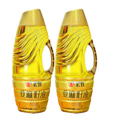 (代发)宏致一级冷榨亚麻籽油1.6L*2瓶家庭小礼盒