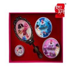 (代发)如玥-珍珠护肤礼盒(复古镜子、素颜珍珠膏、润泽珍珠膏、香膏)