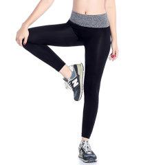 (代发)夢倪撻高弹舒适运动瑜伽裤2件 无 M、灰色+紫色