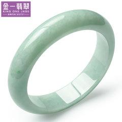 (代发)金一翡翠天然翡翠A货豆绿色细腻手镯【圈口56-58,留言备注规格】