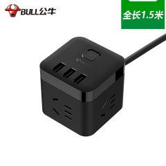 (代发)热销公牛黑魔方USB插座