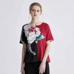 (代发)今升-重磅真丝圆领T恤 1847花色:XL 无