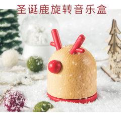 (代发)KAWOO圣诞鹿旋转音乐盒圣诞礼物八音盒