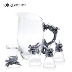 (代发)罗比罗丹龙头杯五件套白酒具套装