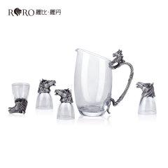 (代发)罗比罗丹马到成功五件套白酒具套装