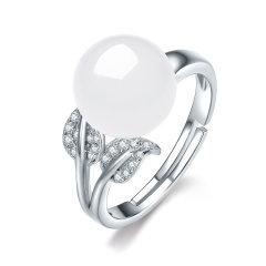(代发)S925银镶和田玉戒指女戒