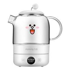 (代发)九阳K08-D601养生壶煮茶器白水壶布朗熊玻璃烧水养生壶0.8L 小熊 无