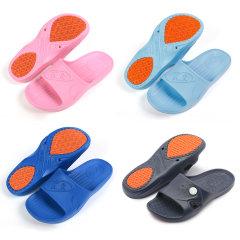 KENROLL科柔专利防滑拖鞋家庭组(防滑拖鞋*4双、赠按摩拖鞋*4双)【主品中深蓝色为荧光扣款】