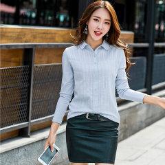 (代发)新款上衣衬衫女长袖韩版打底衫HBF2000 粉色:M 无