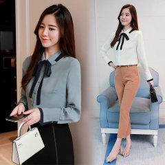 (代发)新款韩版长袖系雪纺衬衫女HBF2105 白色:S 无