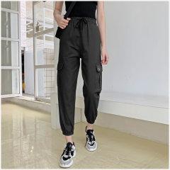 (代发)宽松直筒高腰显瘦运动休闲裤HBF2125 无 卡其色:S