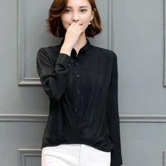 (代发)韩范时尚百搭休闲显瘦衬衣雪纺衫HBF2114 红色:L 无