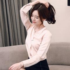 (代发)韩范时尚v领小衫气质长袖衬衣HBF2112 香槟色:L 无