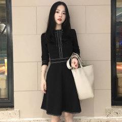 (代发)复古赫本收腰修身显瘦小黑裙蓬蓬裙HB8232 M 无