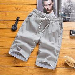(代发)夏季宽松中裤沙滩裤休闲大裤衩HBF2266 无 灰色:XXXXL