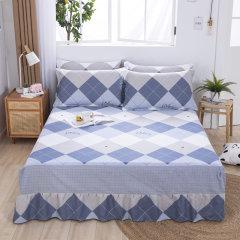 (代发)VIPLIFE-精梳全棉单件床裙1.8米【180*200CM】 无 花园畅想