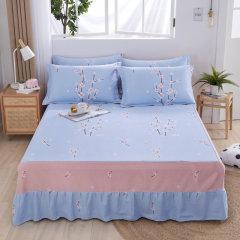 (代发)VIPLIFE-精梳全棉单件床裙1.2米【120*200CM】 无 花季飘香