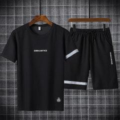 (代发)夏季休闲大码青年速干短裤两件套HBF2270 灰色:XXXL 无