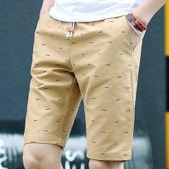 (代发)夏季韩版潮流薄款男士五分裤HBF2269 无 白色:L