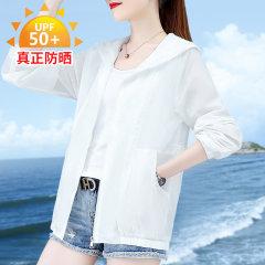 (代发)长袖薄款百搭短款开衫洋气防晒服HBF2306 无 水蓝色:XXXL