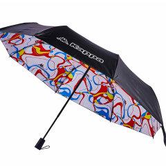 (代发)KAPPA黑胶小黑伞折晴雨伞