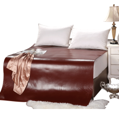 超级会员日-黛富妮天然头层水牛皮席套组(赠乳胶枕*2)【尺寸:150*195cm】