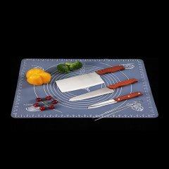 百勒维抗菌不锈钢菜板套组(赠刀具三件套、硅胶粘板*1、304不锈钢筷子*10双)