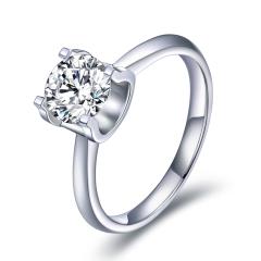 超级会员日-柔情一生2克拉莫桑钻戒指(赠玉润双娇绿玉髓项链珠链*1)