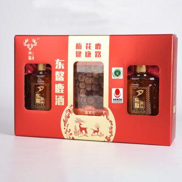 东鳌鹿业鹿鞭人参酒+鹿茸片毓金礼盒