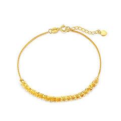 (代发)金贝珠宝-18K黄金凤尾链时尚女士素金手链首饰