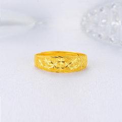 (代发)金贝珠宝-黄金戒指足金满天星女戒活口