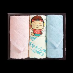(代发)洁丽雅萌优4(优品面巾*2、么么哒童巾*2) 无 蓝色+粉色+紫色+红色