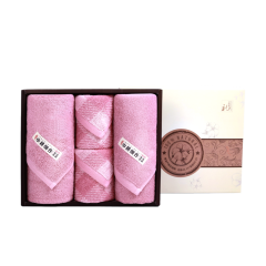 (代发)洁丽雅 秀色5A(格方巾*2、素面巾*2) 无 粉色