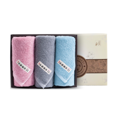 (代发)洁丽雅秀色3(素方巾*1、素面巾*2) 无 粉色