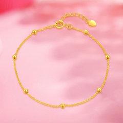 (代发)金贝珠宝-18K金黄光珠手链