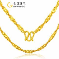 (代发)金贝珠宝-黄金项链足金水波纹时尚爆款女士项链