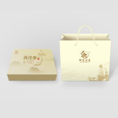 神农济生西洋参片特惠组盒(西洋参片3克/袋*14袋/盒*8)