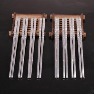 中国白银御福足银筷子4+4回馈套组