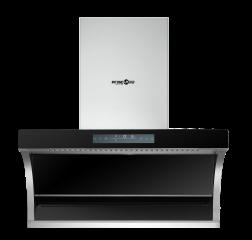 (代发)银田-六键智能体触摸32叠塑封防水电机油烟机Y028