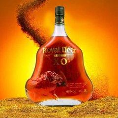 13周年庆-法国进口御鹿名致XO白兰地专供组(白兰地1.5L/瓶*4)【酒精度:40%vol】