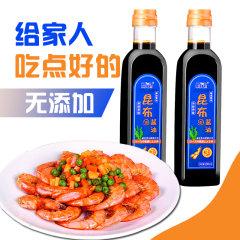 (代发)威海昆布零添加酱油(生抽)原窖自然发酵500ml/瓶*2