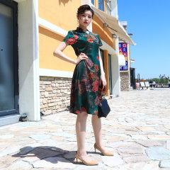 可丽恩香云纱女神裙*1 无 XL:150-160cm