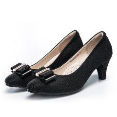 诺曼地星沙漫舞机能高跟鞋 黑色 36cm