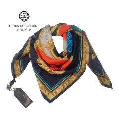 抢购-非遗生活汉文化桑蚕丝巾(赠丝巾扣*1) 无 橙色