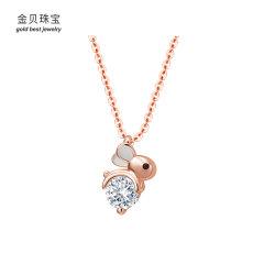 (代发)金贝珠宝-S925纯银可爱兔子项链