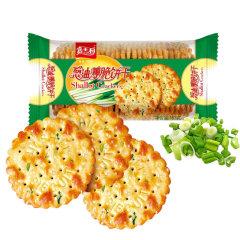 (代发)嘉士利-葱油薄脆饼干早餐饼163g/包*5