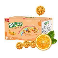 (代发)嘉士利-香橙味果乐果香夹心饼1000g/箱*1