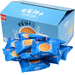 (代发)嘉士利-牛奶味早餐饼836g/箱*1