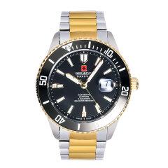 瑞士军表限量纪念版真钻机械腕表(赠瑞士军刀*1、瑞士军笔*1、瑞士石英军表*1) 无 金色