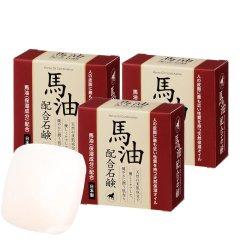 日本原装进口奈逸洛柯马油皂超值组(马油皂80g/块*8、赠火山灰皂80g/块*4)